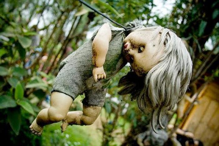 Лес кукол. Страшное в Мексике.