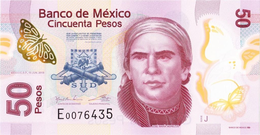 50 песо с Хосе Мария Морелосом