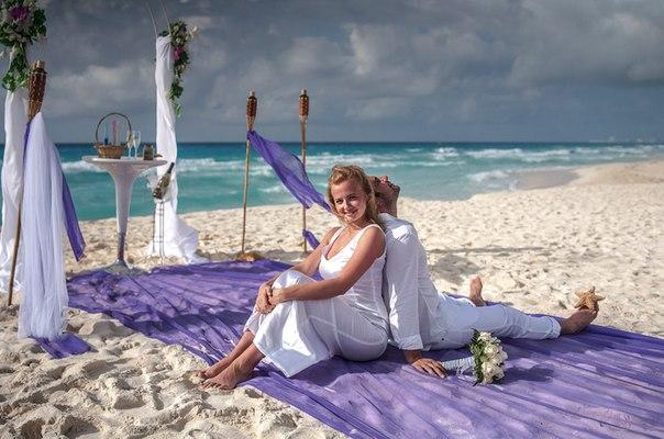 Фотосессия на пляже. Свадебная церемония на пляже.