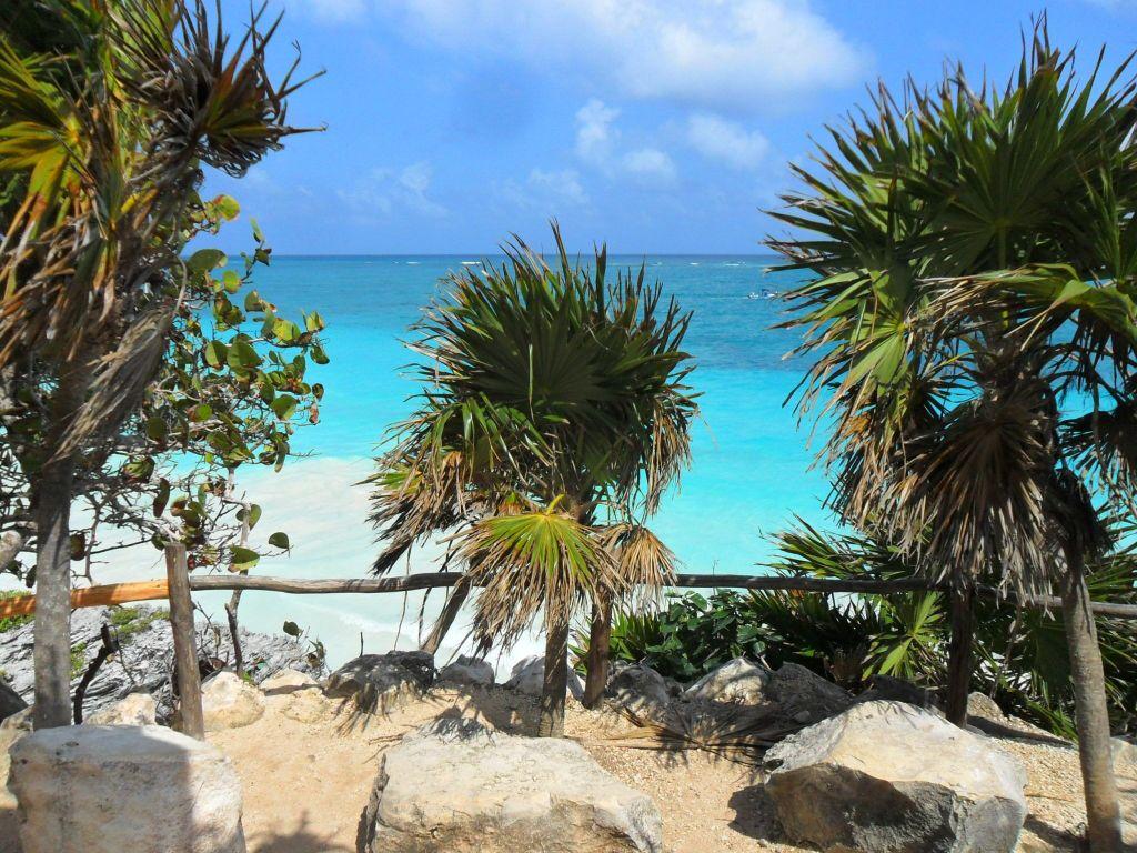 Пляж в декабре. Мексика