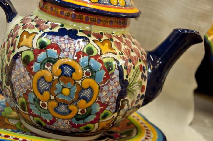 Керамический чайник Таверла. Пуэбла