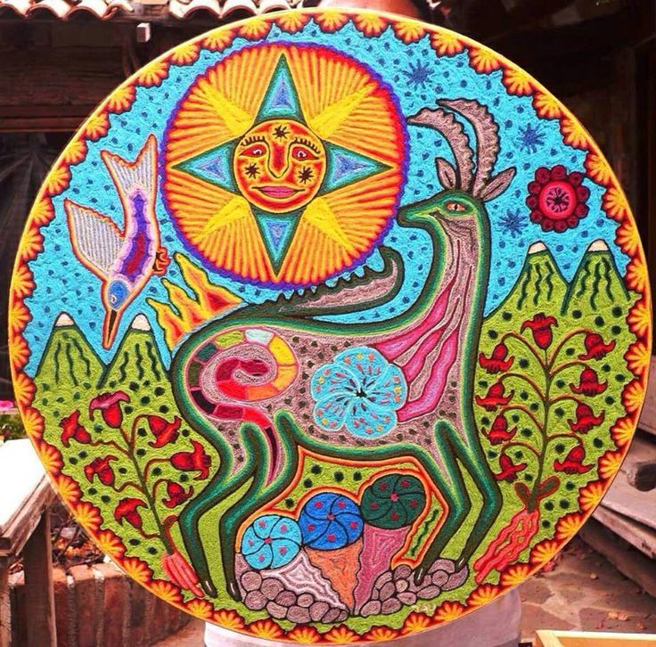 Круглая ниерика Уичоль. Мексика
