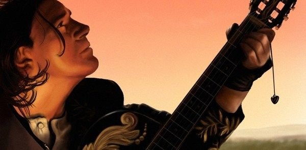 Антонио Бандерас с гитарой. Отчаянный
