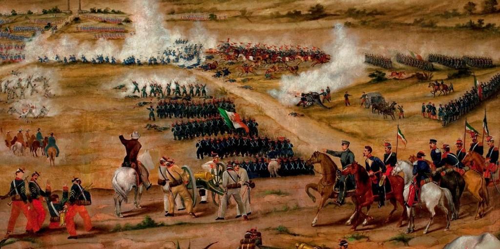Гравюра Битва при Пуэбле. 5 мая