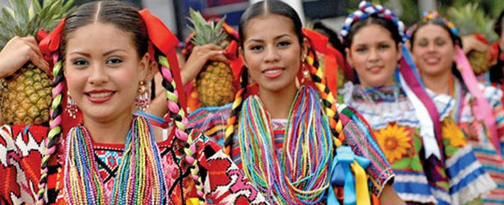 Потрясающе красивый фестиваль Гелагеца в штате Оахака. Мексика