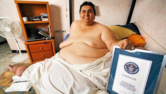 Самый толстый мексиканец в 2006 году Мануэль Урибе