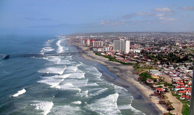 Пляж Розарито бич в Тихуане. Мексика