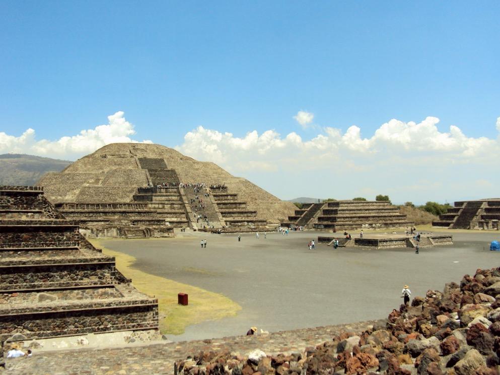 Легендарный город ацтеков Теотиуакан, Мексика