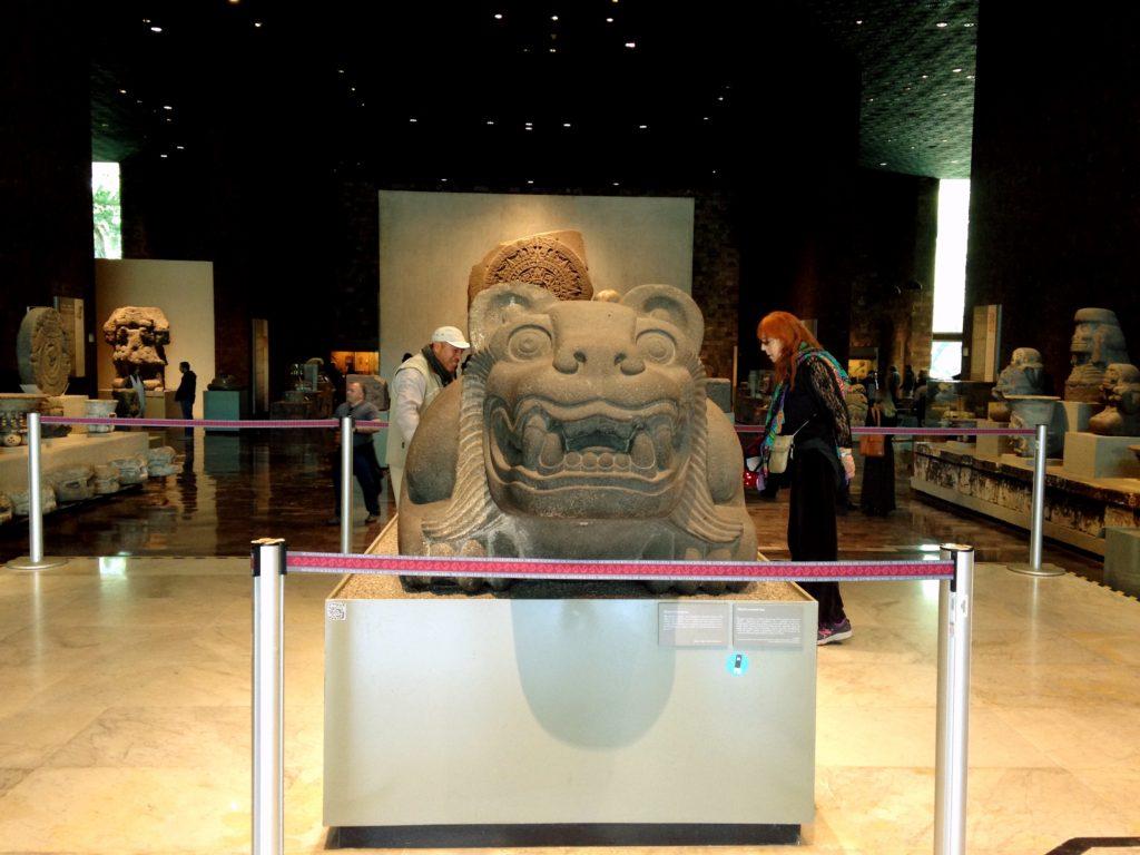 Зал Календарь Ацтеков в национальном антропологическом музее, Мехико сити