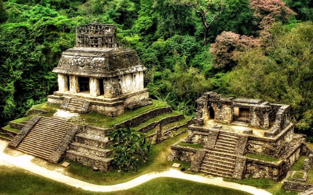 Руины города Паленке, Храм Креста, штат Чиапас