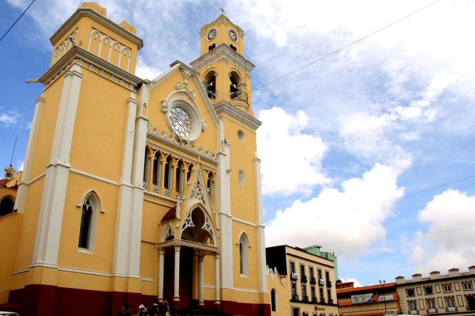 Религиозная мекка кафедраль Ла Инмакулада Консепсион, Халапа, Мексика