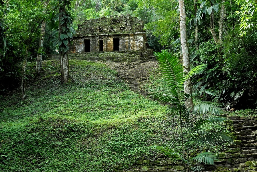 Самый затерянный в джунглях древний город цивилизации майя Яшчилан, Мексика