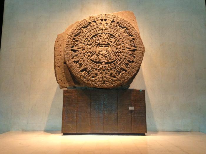 Камень солнца Тонатио в Национальном музее антропологии