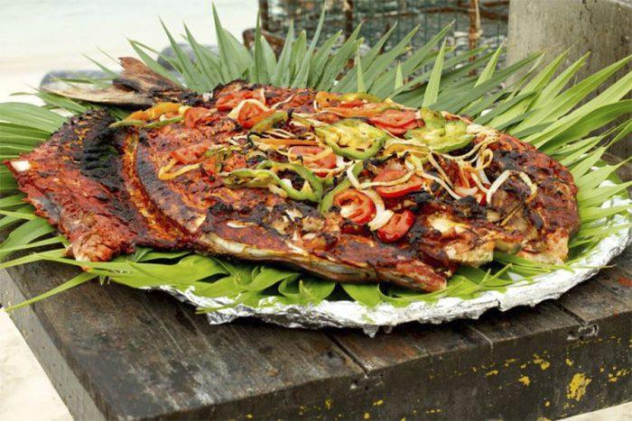 Традиционное рыбное блюдо штата Юкатан.