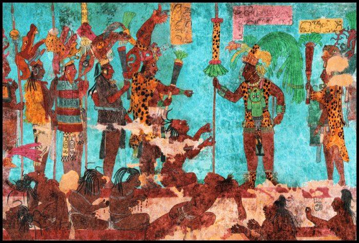 бонампак, фрески