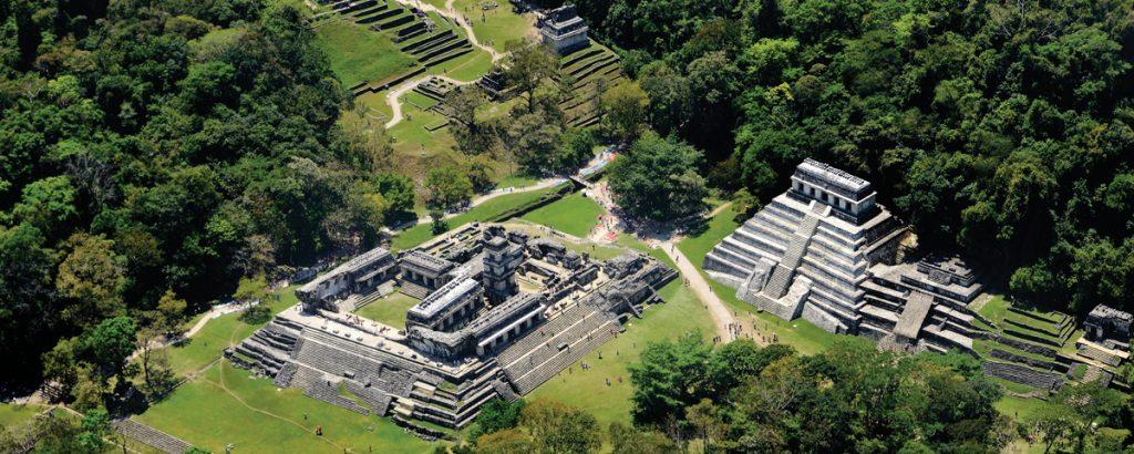 Паленке, город майя в штате Чьяпас.